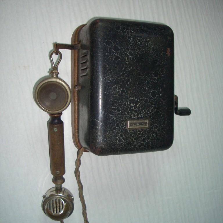 Настенный телефон. З-д Красная Заря. 1935г.