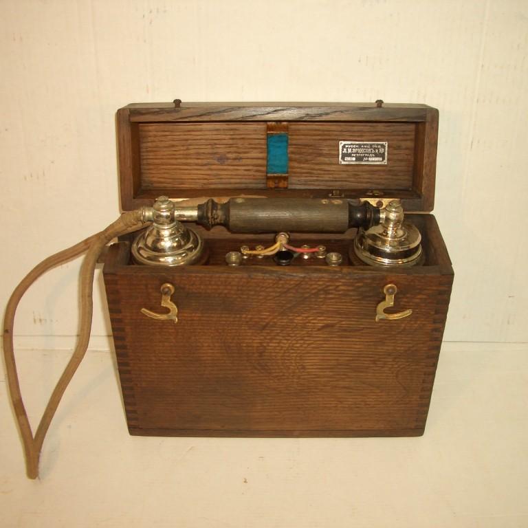 Полевой телефон фирмы «Эриксонъ», 1915 г