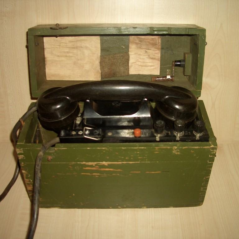 Полевой телефон таи-43. Фронтовой. ВОВ. до 1945г.
